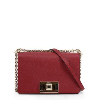 Túi đeo chéo Furla Mimi' da màu đỏ