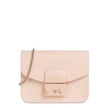Túi đeo chéo Furla Metropolis Mini Size 17cm da thật màu hồng