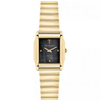 Đồng hồ Trussardi Milano nữ T-Geomatric mạ vàng mặt đen chính hãng