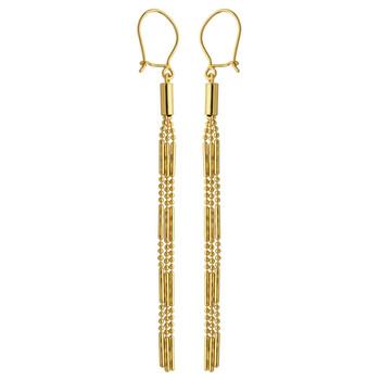 Trang sức 925 Couture Vàng 10K Tassel Bông tai (khuyên tai