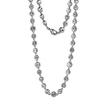 Trang sức 925 Couture Rhodium mạ Bronze Czech Crystal Bezel Set Dây chuyền (vòng cổ)