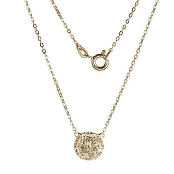 Trang sức 925 Couture Bạc 925 w Vàng 18K mạ Kim cương Cut Disk Dây chuyền (vòng cổ)