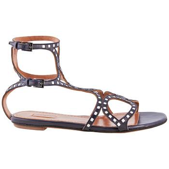 Giày Alaia nữ màu đen / màu trắng Sandals