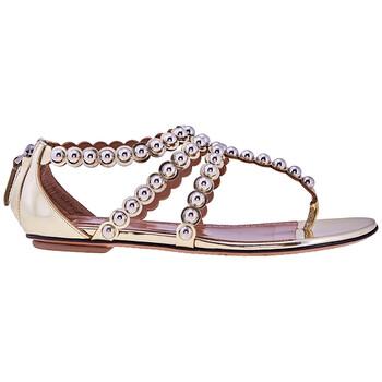 Giày Alaia nữ Gold Metal Ball T Strap Sandal chính hãng