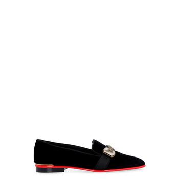 Giày Alexander Mcqueen màu đen Pointed-toe Loafers chính hãng