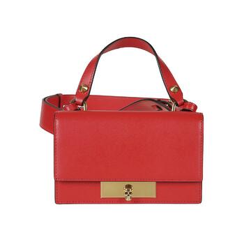 Alexander Mcqueen màu đỏ Skull Flap Bag Chính hãng từ Mỹ