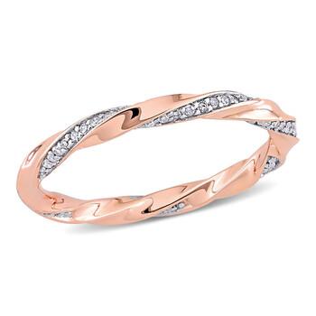 Trang sức Amour Vàng hồng 10K 1/4 CT TDW Kim cương Eternity Nhẫn chính hãng sale giá rẻ Hà nội TPHCM