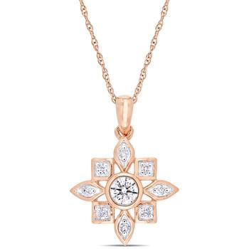 Trang sức Amour Vàng hồng 10K 1/3 CT TW Kim cương Artisanal Pendant với Chain chính hãng sale giá rẻ Hà nội TPHCM