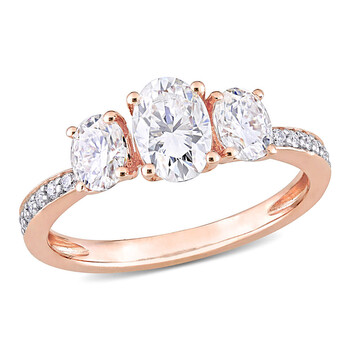 amour 10k rose gold 1 4 5 ct tgw created white moissanite fashion ring jms007223
