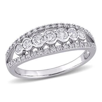Trang sức Amour Vàng trắng 10K 1/2 CT TDW Kim cương Nhẫn chính hãng sale giá rẻ Hà nội TPHCM