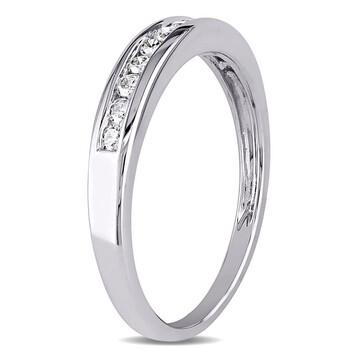 Trang sức Amour Vàng trắng 10K 1/4 CT TDW Kim cương Eternity Nhẫn chính hãng sale giá rẻ Hà nội TPHCM