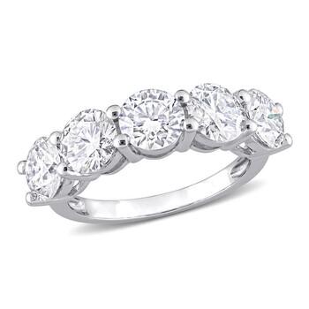 Trang sức Amour Vàng trắng 10K 3 1/2 CT TGW Created White Moissanite 5 Stone Nhẫn chính hãng sale giá rẻ Hà nội TPHCM