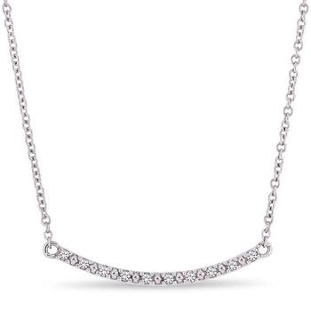 Trang sức Amour Vàng trắng 10K Children's Kim cương Bar Dây chuyền (vòng cổ) chính hãng sale giá rẻ Hà nội TPHCM