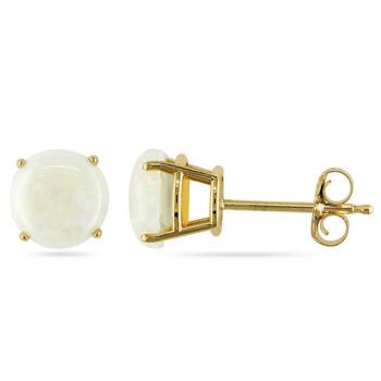 Trang sức Amour Vàng 10K 1 1/5 CT TGW Opal Stud Bông tai (khuyên tai