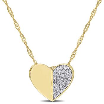 trang sức Amour Vàng 10K 1/10 CT TDW Kim cương Heart Pendant với Chain chính hãng sale giá rẻ tại Hà nội TPHCM