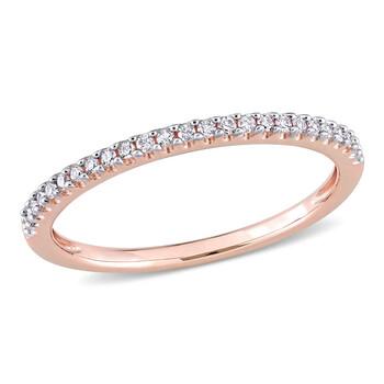 Trang sức Amour Vàng hồng 14K 1/8 CT TDW Kim cương Eternity Nhẫn chính hãng sale giá rẻ Hà nội TPHCM
