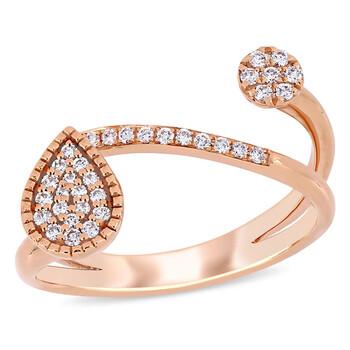Trang sức Amour Vàng hồng 14K 1/5 CT TDW Kim cương Abstract Nhẫn chính hãng sale giá rẻ Hà nội TPHCM
