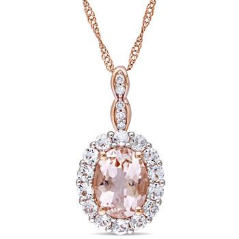Trang sức Amour Vàng hồng 14K Oval-Cut Morganite