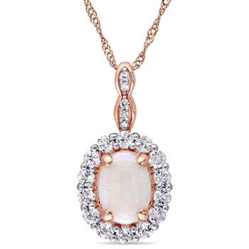 Trang sức Amour Vàng hồng 14K Oval Shape Opal