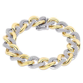 Trang sức Amour 14k Two-Tone Gold 3 1/4 CT TDW Kim cương Vòng đeo tay chính hãng sale giá rẻ Hà nội TPHCM