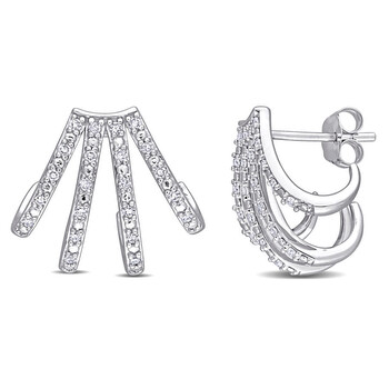 amour 14k white gold 1 4 ct tdw diamond stud earrings jms007367