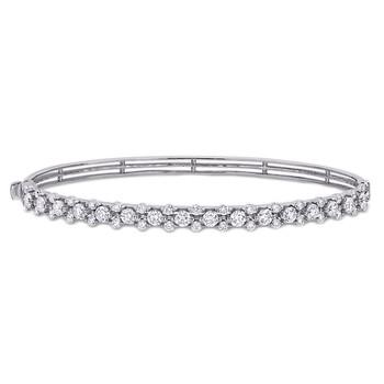 Trang sức Amour Vàng trắng 14K 1 7/8 CT TDW Kim cương Bangle chính hãng sale giá rẻ Hà nội TPHCM