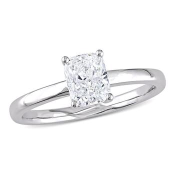 Trang sức Amour Vàng trắng 14K 1 CT TW Cushion-Cut Kim cương Solitaire Nhẫn đính hôn chính hãng sale giá rẻ Hà nội TPHCM