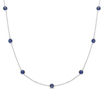 Trang sức Amour Vàng trắng 14K 2 3/5 CT TGW Sapphire Dây chuyền (vòng cổ) với Chain Length (inches): 16 chính hãng sale giá rẻ Hà nội TPHCM