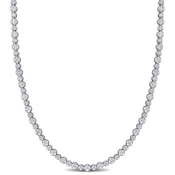 Trang sức Amour Vàng trắng 14K 6 3/4 CT TDW Kim cương Tennis Dây chuyền (vòng cổ) chính hãng sale giá rẻ Hà nội TPHCM