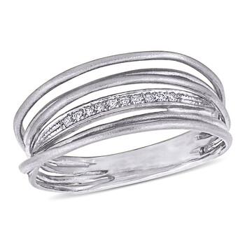 trang sức Amour Vàng trắng 14K Kim cương-Accent Coil Eternity Nhẫn chính hãng sale giá rẻ tại Hà nội TPHCM