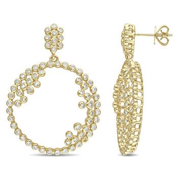 Trang sức Amour Vàng 14K 1 1/3 CT TDW Kim cương Drop Bông tai (khuyên tai