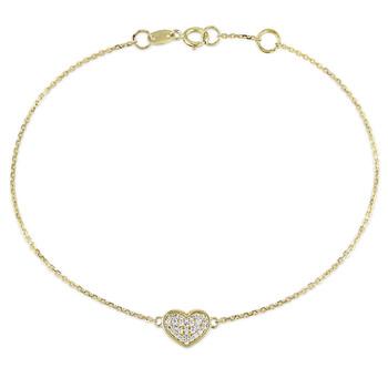 Trang sức Amour Vàng 14K 1/10 CT Kim cương TW Link Vòng đeo tay với Chain chính hãng sale giá rẻ Hà nội TPHCM