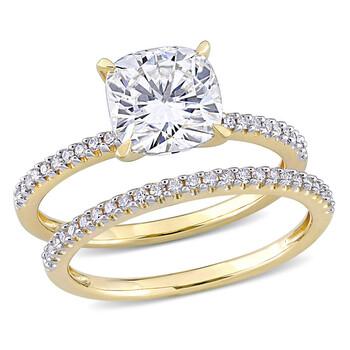 Trang sức Amour Vàng 14K 1/4 CT Kim cương và 2 CT TGW Created White Moissanite Bridal Nhẫn Set chính hãng sale giá rẻ Hà nội TPHCM
