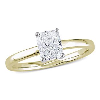 Trang sức Amour Vàng 14K 1 CT TW Cushion Cut Kim cương Solitaire Nhẫn đính hôn chính hãng sale giá rẻ Hà nội TPHCM