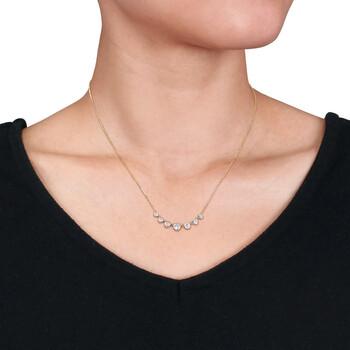 Trang sức Amour Vàng 14K 1 CT TW Graduated Kim cương Dây chuyền (vòng cổ) chính hãng sale giá rẻ Hà nội TPHCM