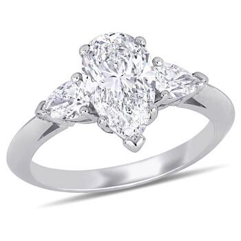 Trang sức Amour Vàng trắng 18K 2 5/8 CT TW Kim cương Nhẫn đính hôn (GIA Certified) chính hãng sale giảm giá sỉ rẻ nhất ở Hà nội TPHCM
