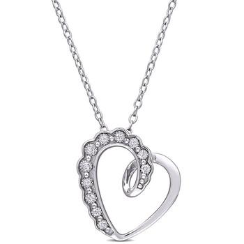 Trang sức Amour 925-Bạc 925Kim cương-Accent Heart Pendant với Chain chính hãng sale giá rẻ Hà nội TPHCM