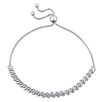 Trang sức Amour 1/4 CT TW Kim cương Bolo Vòng đeo tay Bạc 925 JMS004146 chính hãng sale giá rẻ Hà nội TPHCM
