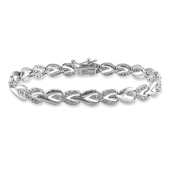 Trang sức Amour 1 CT TW Kim cương Vòng đeo tay Bạc 925 JMS005211 chính hãng sale giá rẻ Hà nội TPHCM