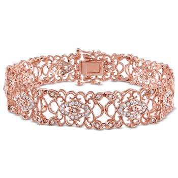 Trang sức Amour 1 1/5 CT Kim cương TW Vòng đeo tay Vàng hồng 14K GH SI Length (inches): 7 chính hãng sale giá rẻ Hà nội TPHCM