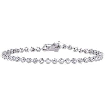 Trang sức Amour 1 3/5 CT Kim cương TW Vòng đeo tay Vàng 14K White GH SI Length (inches): 7 chính hãng sale giá rẻ Hà nội TPHCM