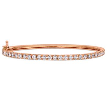 Trang sức Amour 2 1/3 CT Kim cương TW Bangle Vàng 14K Pink GH SI chính hãng sale giá rẻ Hà nội TPHCM