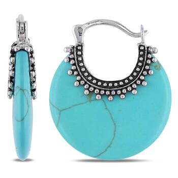 Trang sức Amour Nữ Silver và Turquoise Bông tai (khuyên tai