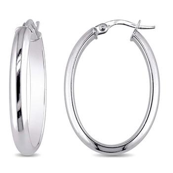 Trang sức Amour Long & Thick Oval-Shaped Hoop Bông tai (khuyên tai