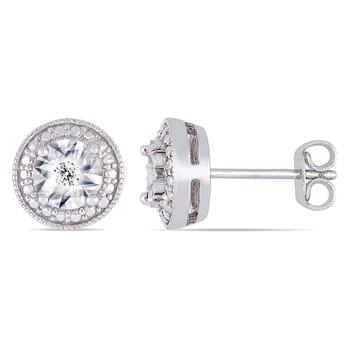 Trang sức Amour 0.04 CT Kim cương TW Ear Pin Bông tai (khuyên tai