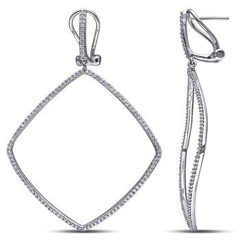 Trang sức Amour 3/4 CT Kim cương TW Clip Back Bông tai (khuyên tai