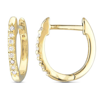 Trang sức Amour Vàng hồng 10K 1/4 CT TDW Kim cương Hoop Bông tai (khuyên tai