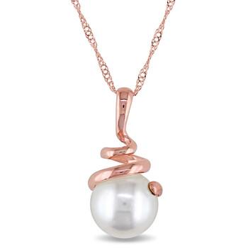 Trang sức Amour Vàng hồng 14K 8-8.5 mm Freshwater Cultured White Pearl Pendant w/Chain chính hãng sale giá rẻ Hà nội TPHCM