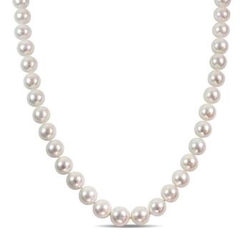 Trang sức Amour Vàng trắng 14K 13.5-15 mm White Freshwater Cultured Pearl và 0.06ct Kim cương Accent Strand Dây chuyền (vòng cổ) chính hãng sale giá rẻ Hà nội TPHCM