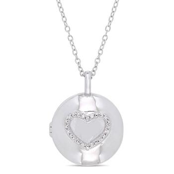 Trang sức Amour Bạc 925 0.05 CT TDW Kim cương Locket Pendant w/Chain chính hãng sale giá rẻ Hà nội TPHCM
